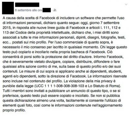 Facebook linee guida articoli 111 112 e 113