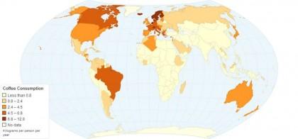 mappa consumo caffè