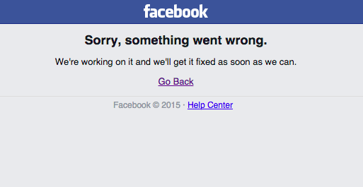Facebook down lunedì 28 settembre