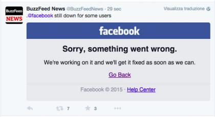 Facebook down 28 settembre