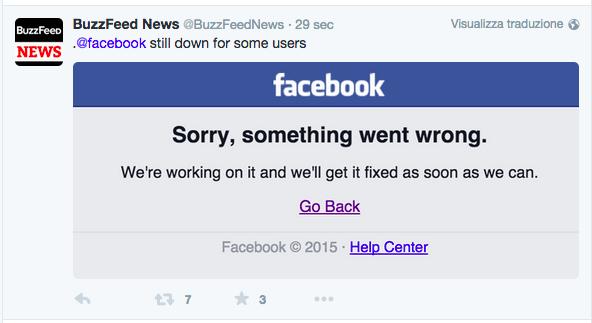 Facebook down polizia