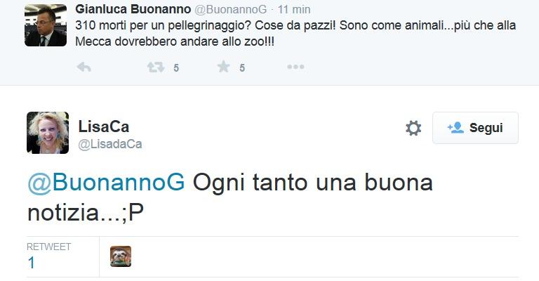 Gianluca Buonanno insulta le vittime e il suo pubblico di riferimento si congratula per la «buona notizia»