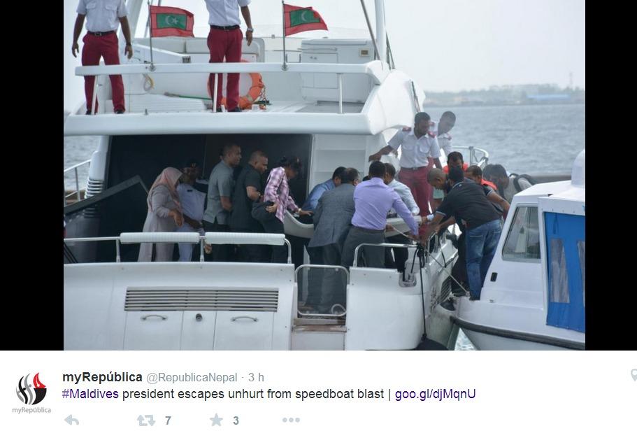 maldive incidente