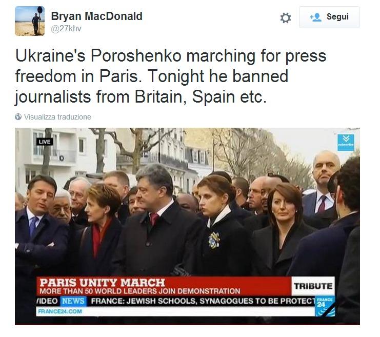 Poroshenko non è più Charlie