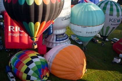 Balloonists Take To The Skies For The Bristol International Balloon Fiesta