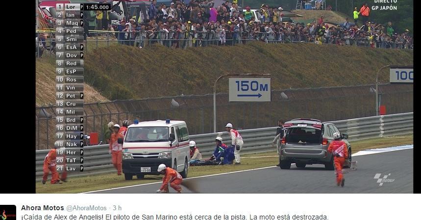 Alex De Angelis incidente MotoGp