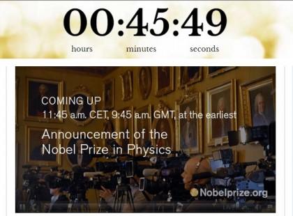 Premio Nobel Fisica 2015 diretta