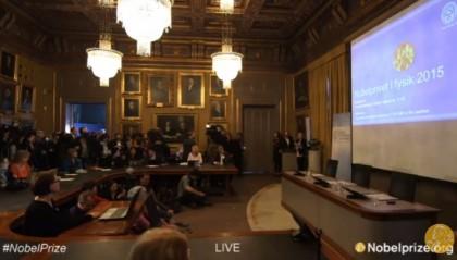 Premio Nobel Fisica 2015 diretta premiazione