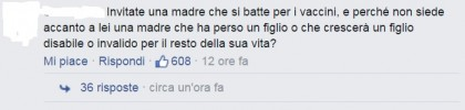 Vaccini Openspace commento facebook
