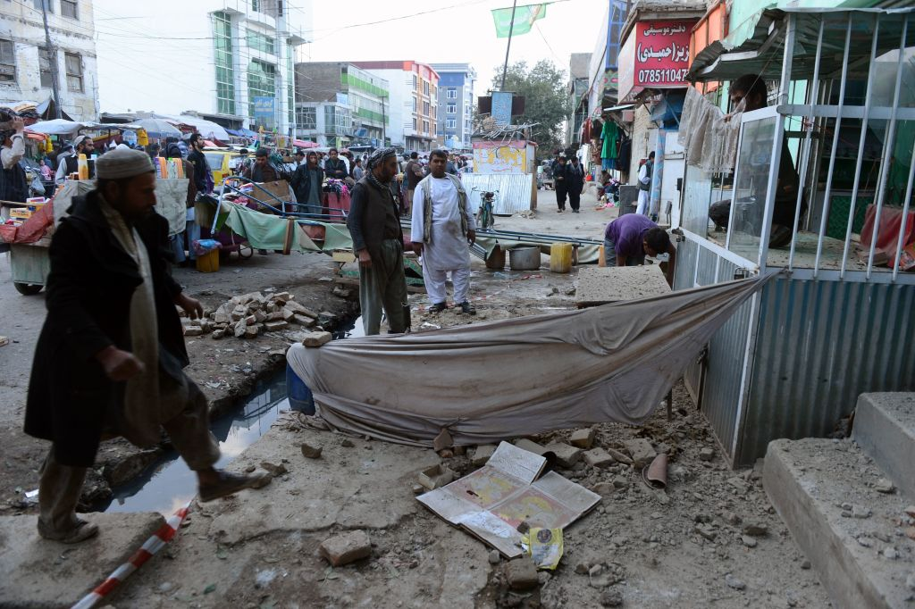 Il forte sisma ha risparmiato la capitale, a Kabul si sono registrati solo danni minori  (Photo  credit Aref Karimi/AFP/Getty Images)