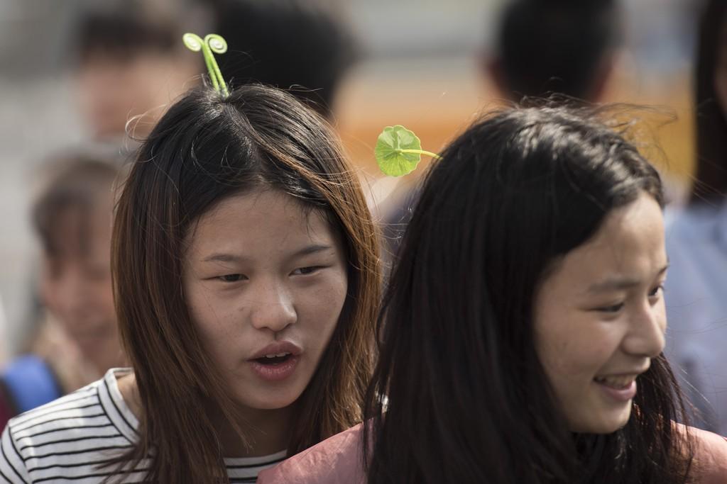 A Pechino sono tutti pazzi per le piantine in testa
