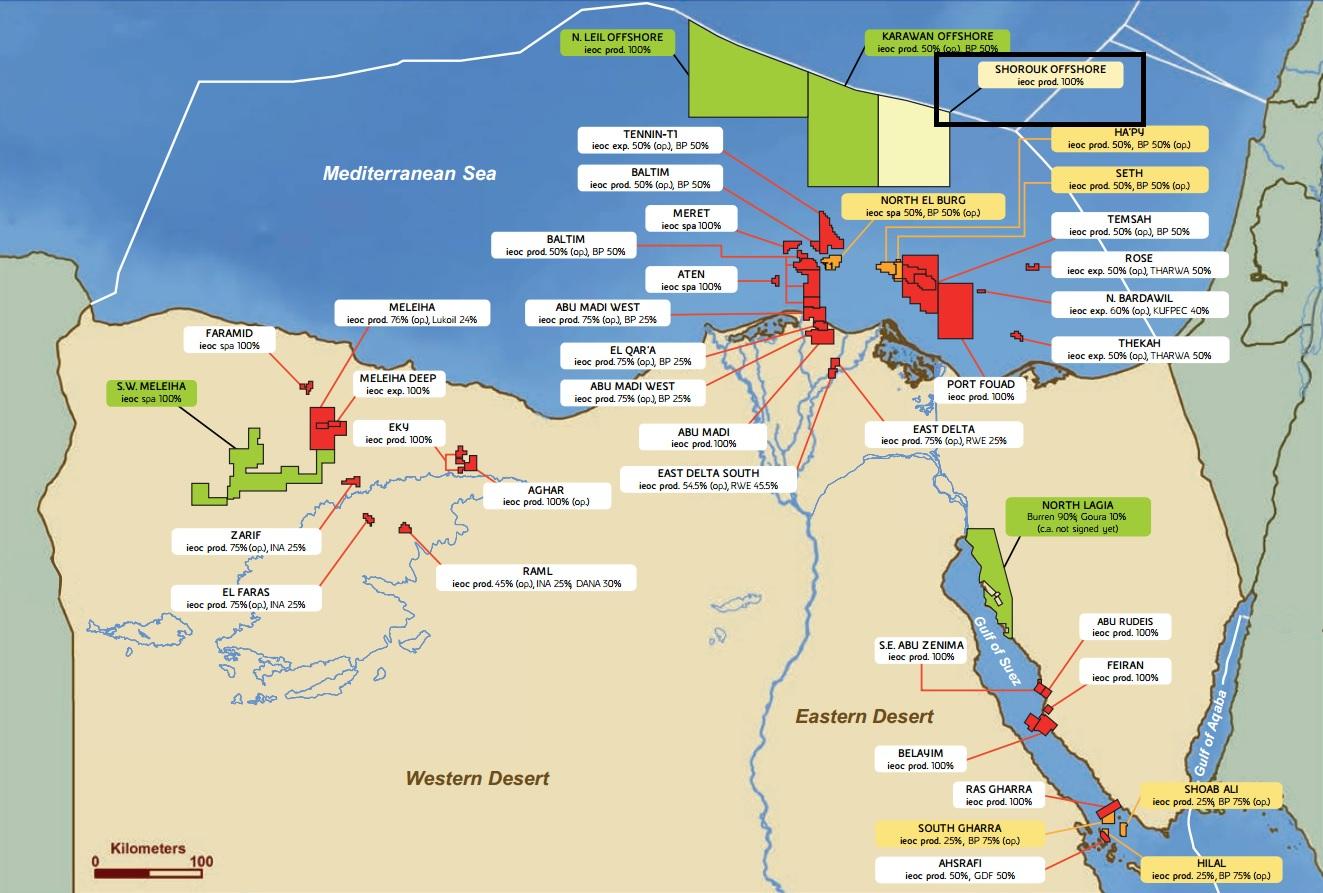 Le attività ENI in Egitto (Fonte ENI - 2014)