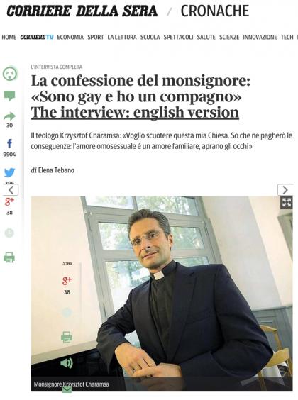 krzysztof charamsa vaticano intervista gay
