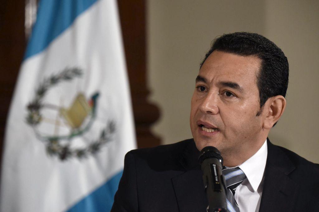 Jimmy Morales   (Photo credit JOHAN ORDONEZ/AFP/Getty Images)