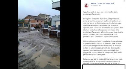 sannio beneventano alluvione