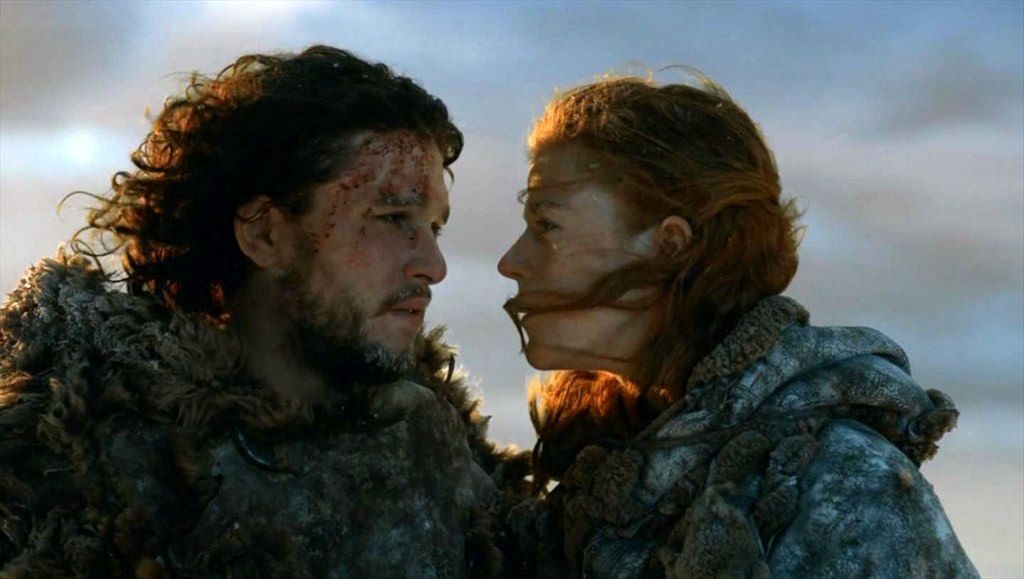 Ygritte e Jon Snow (Courtesy HBO)