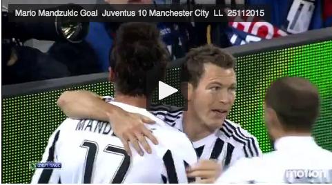 Juventus - Manchester City VIDEO GOL E HIGHLIGHS VIDEO