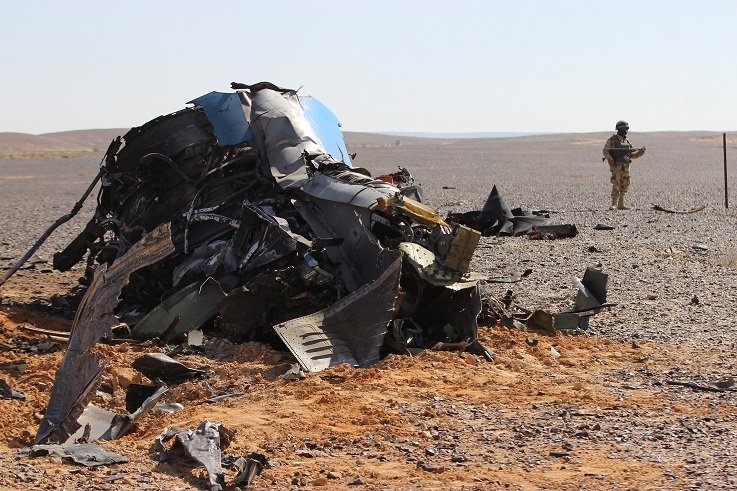 aereo caduto in sinai