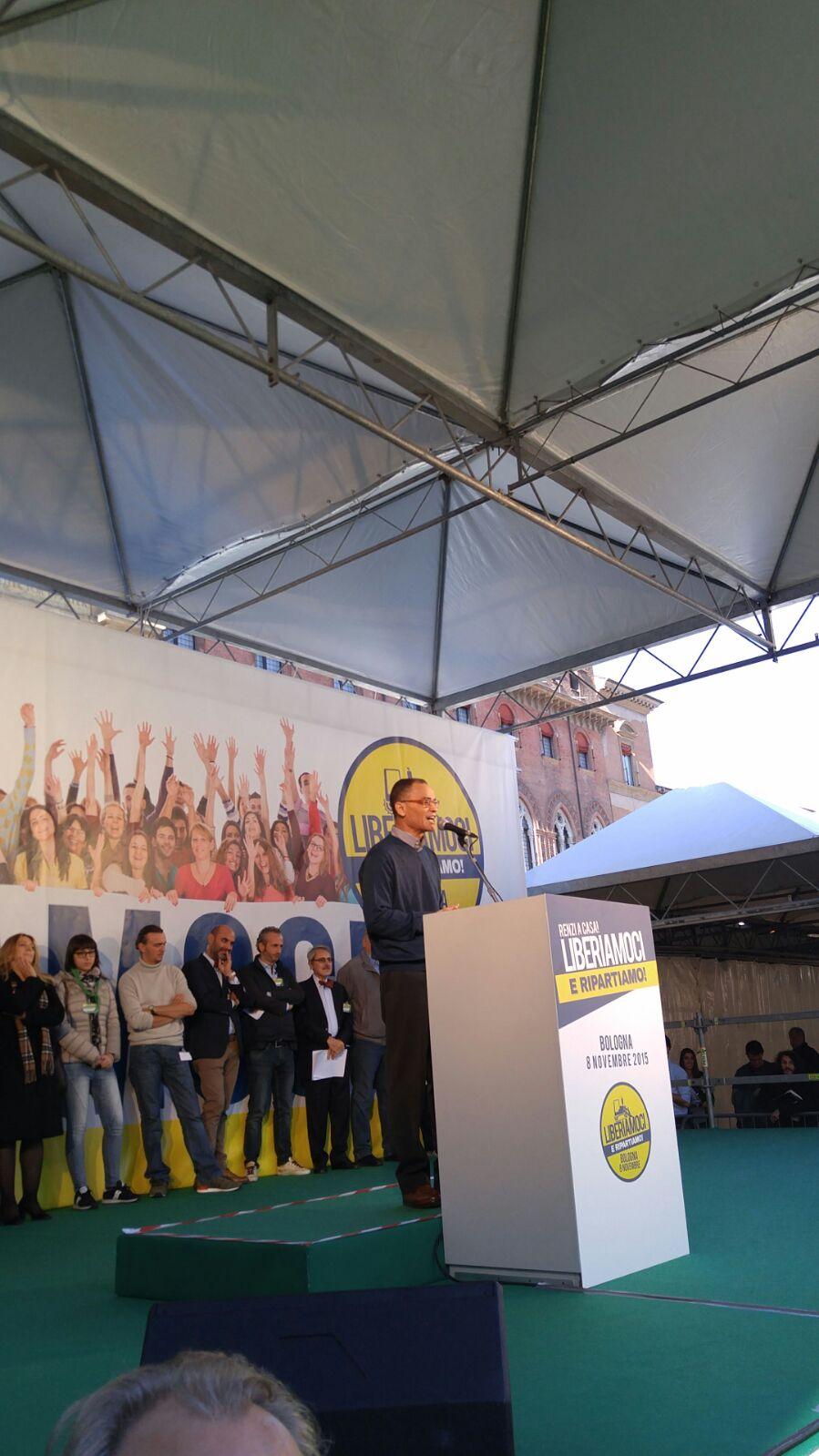 Bologna Salvini Berlusconi cortei