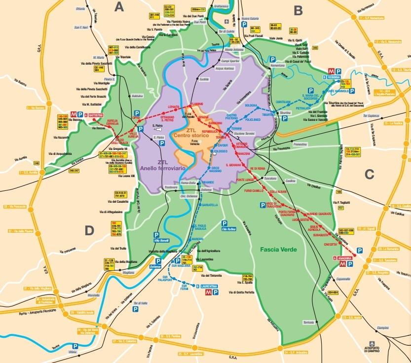 Blocco del traffico roma domenica 15 novembre euro 5 non for Interno b 197 orari