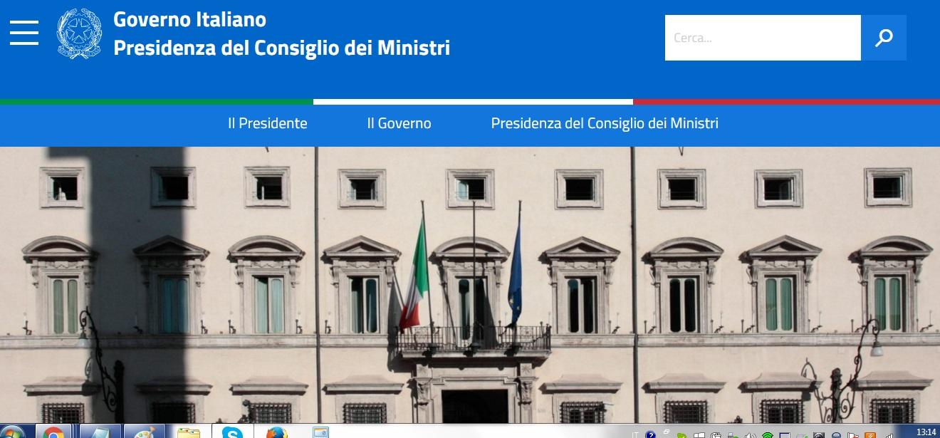 Il nuovo sito del governo for Sito governo italiano