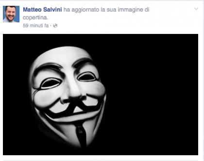 salvini facebook anonymus