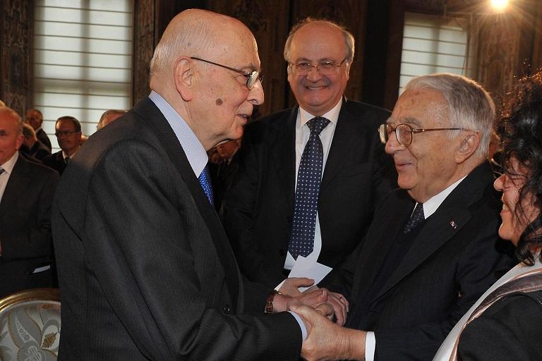 Armando Cossutta con Giorgio Napolitano