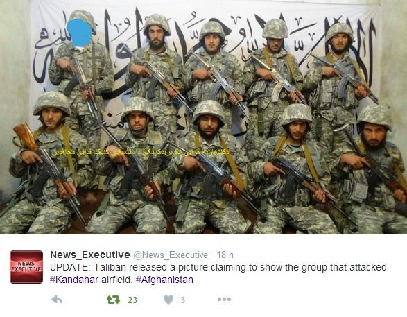 I Talibani hanno diffuso un'immagine degli uomini impegnati nell'attacco all'eroporto.