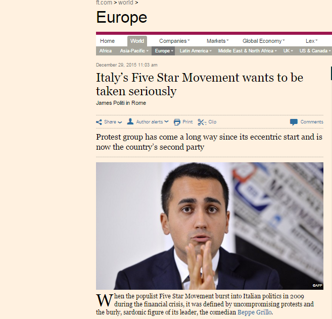 M5S Financial Times