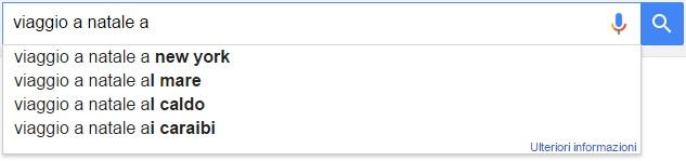 natale ricerche google viaggio