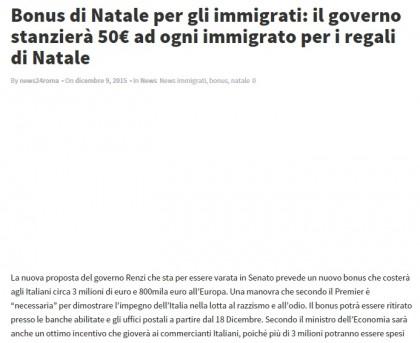 renzi bonus immigrati
