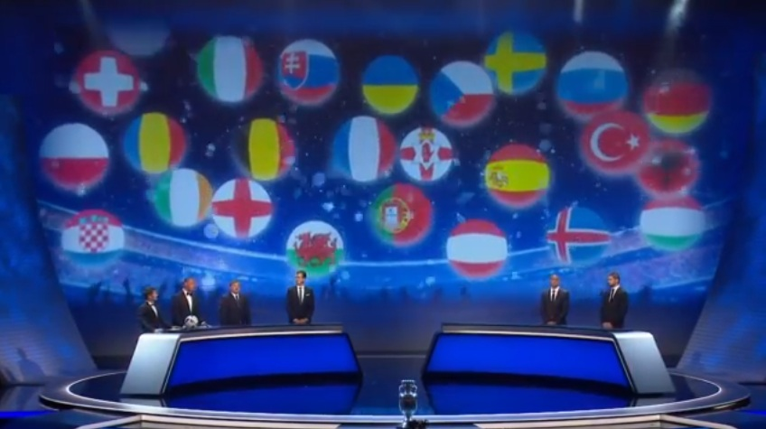 Il sorteggio di Euro 2016