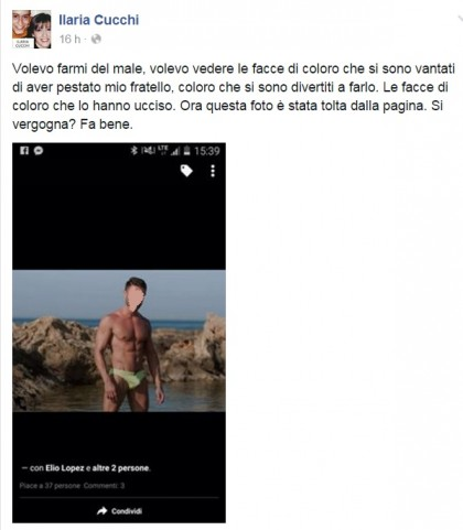 Ilaria Cucchi Facebook