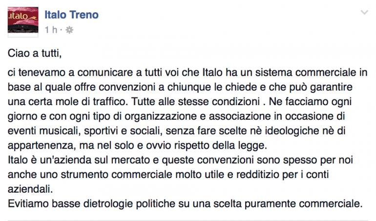 Italo Treno e lo sconto per il Family Day