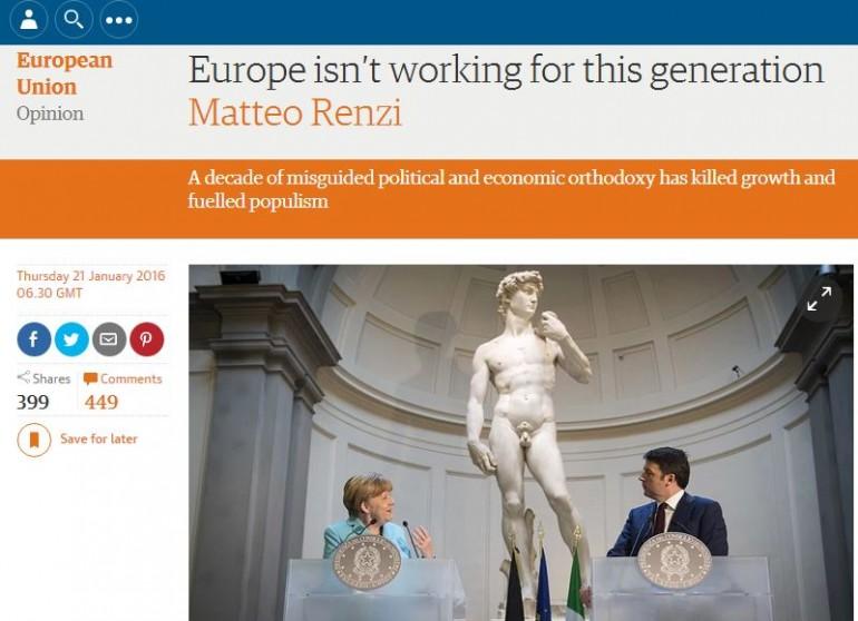 Matteo Renzi Europa