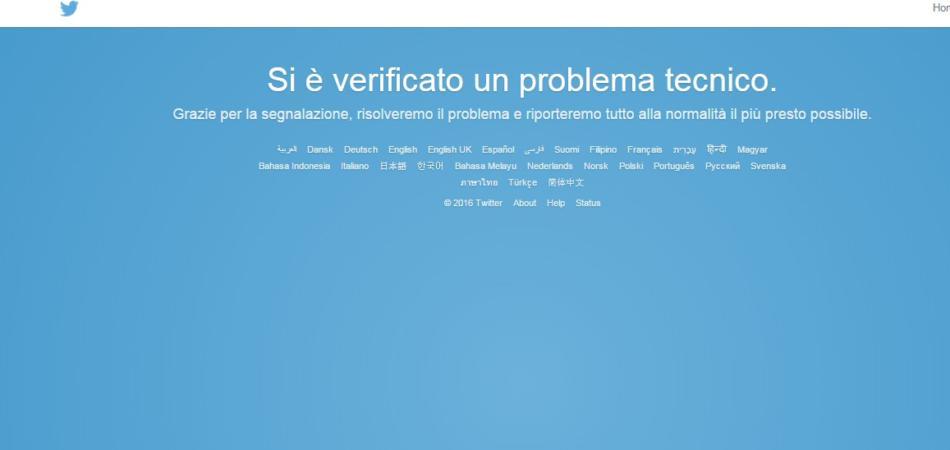 non funziona twitter