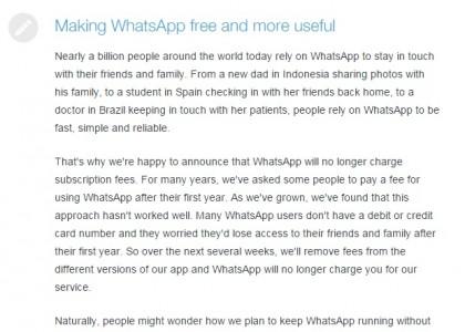 whatsapp gratis per iphone quando