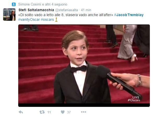Oscar 2016 Jacob Tremblay