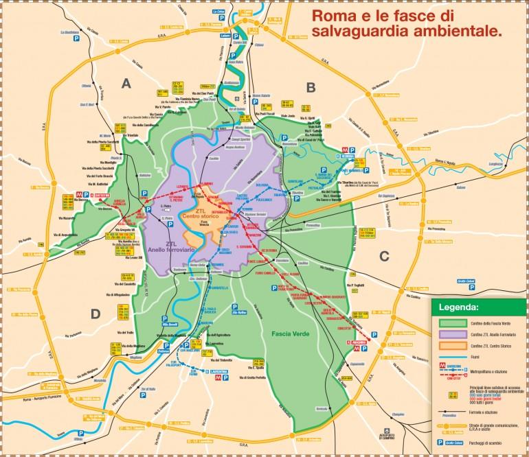 blocco totale del traffico Roma 28 febbraio fascia verde