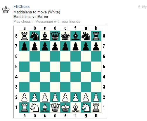 scacchi nascosti chat facebook
