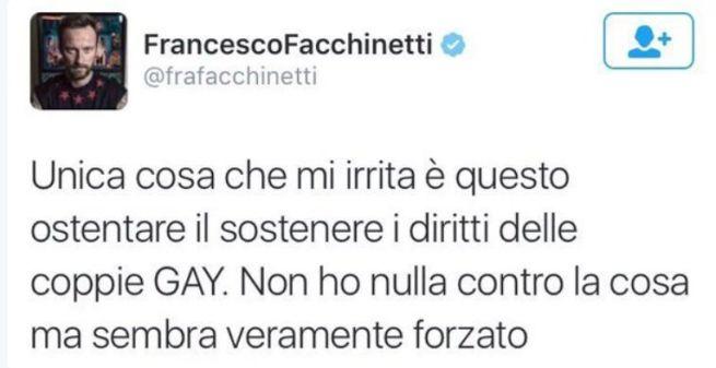 Francesco Facchinetti su Twitter contro Sanremo: troppo gay-friendly?