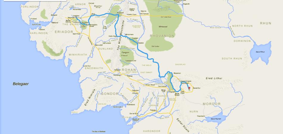 google maps terra di mezzo
