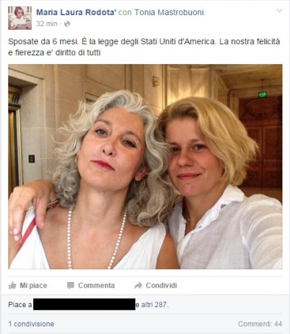 Facebook/Maria Laura Rodotà