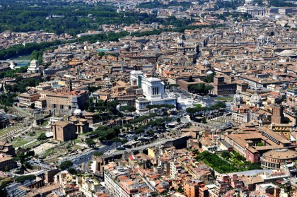 An aerial view of Rome on May 11, 2011.