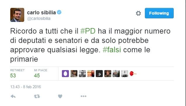 Il deputato m5s carlo sibilia e lo strano concetto di for Numero senatori e deputati
