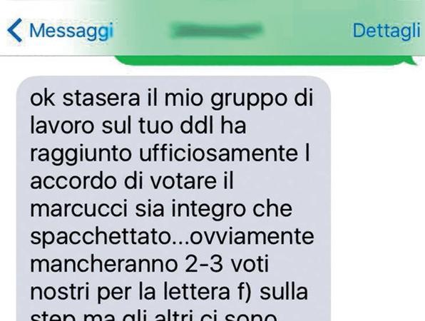 Unioni Civili, sms da Airola a Cirinnà