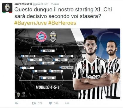 Bayern Monaco-Juventus diretta live