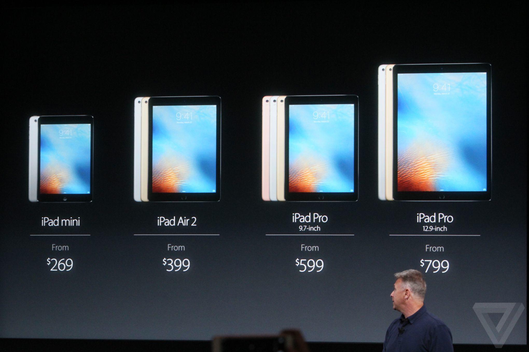 2016 Apple Keynote iPad