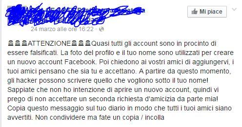 bufala facebook hacker