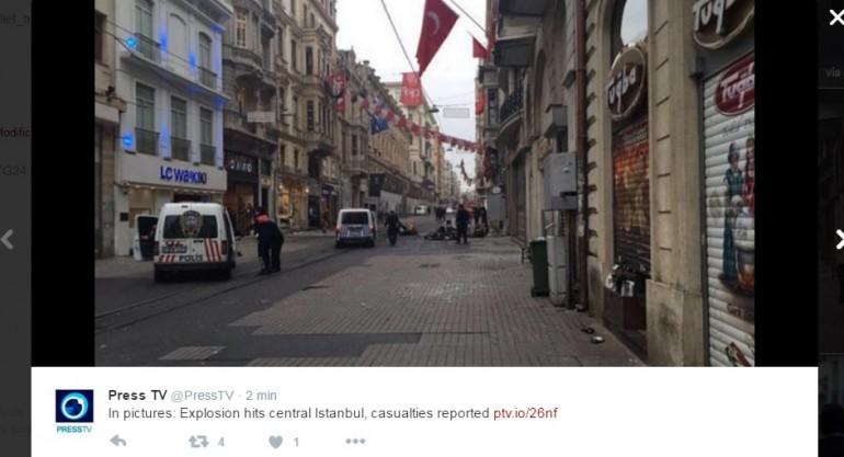 Istanbul, attentato in pieno centro: ci sono vittime